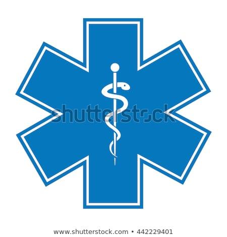 Ambulans mavi vektör ikon düğme Internet Stok fotoğraf © rizwanali3d