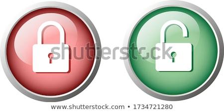 Unlock Circular Green Vector Web Button Icon Stock photo © rizwanali3d