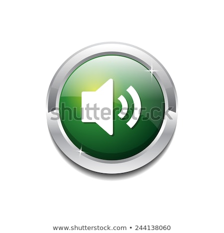 tecnologia · música · verde · vítreo · botão · ícone - foto stock © rizwanali3d