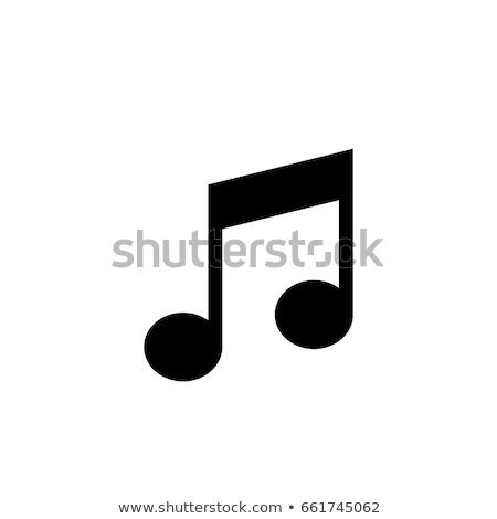 Icona bianco musica abstract metal Foto d'archivio © tkacchuk