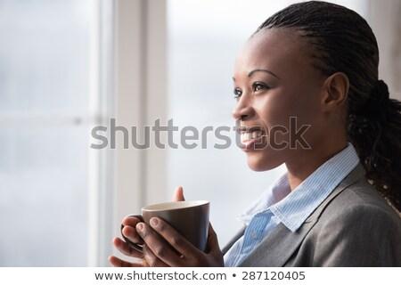 aandachtig · zakenvrouw · vergadering · antieke · stoel · vrouw - stockfoto © hasloo