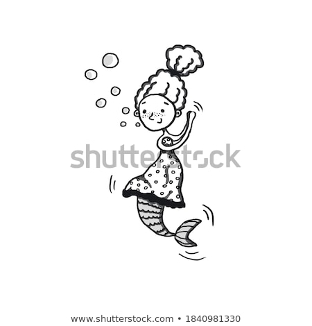 cartoon capable woman with thought bubble Stock photo © lineartestpilot