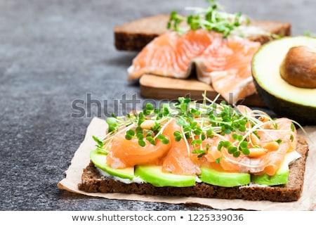 Rogge brood kaas orange slice voedsel Stockfoto © Klinker