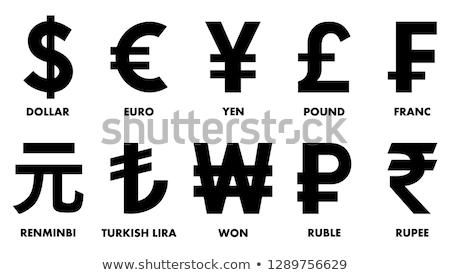 Valuta pénz táska pénz zsák ikon Stock fotó © Dxinerz
