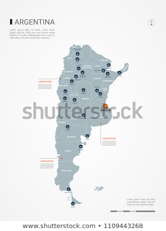 bouton · symbole · Argentine · pavillon · carte · blanche - photo stock © mayboro