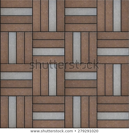 brown and gray rectangle laid in form of weaving stock photo © tashatuvango