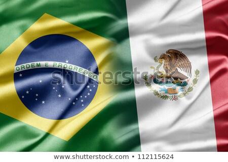 3D · voetbal · Brazilië · Mexico · vlag - stockfoto © mhristov