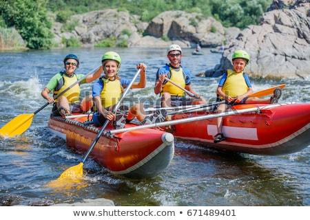 ラフティング 家族 実例 水 子供 スポーツ ストックフォト © adrenalina