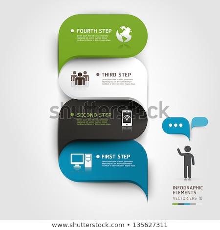 Düşünmek web Internet siyah vektör düğme Stok fotoğraf © rizwanali3d