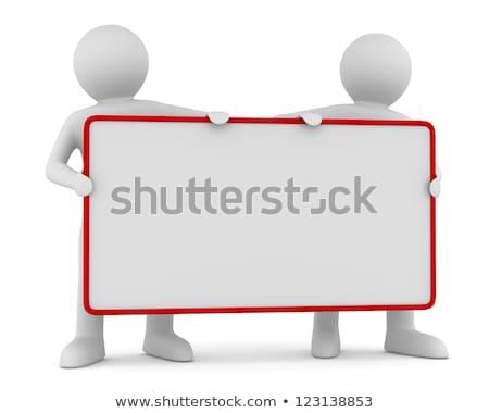 3d man main blanche côté Photo stock © nithin_abraham