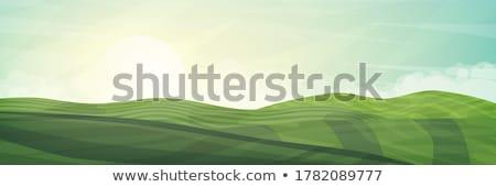 日の出 · パノラマ · 表示 · 谷 · 風光明媚な - ストックフォト © juhku