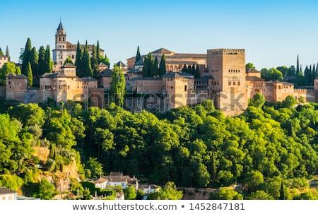 после полудня солнце Альгамбра дворец Испания Сток-фото © rmbarricarte