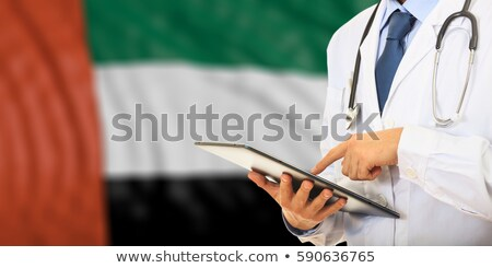 Tablet with United Arab Emirates flag Stock photo © tang90246