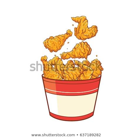 Frango assado pernas símbolo projeto comida frango Foto stock © blaskorizov