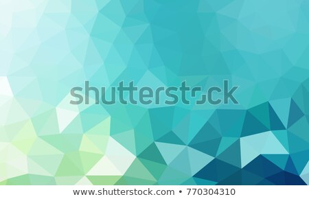 abstract teal low poly background, vector  Stock photo © beaubelle