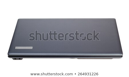Electronic collection - Closed modern laptop top view isolated o Stock photo © nemalo