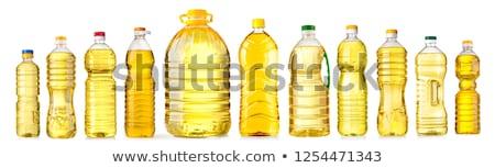 Pétrolières bouteilles tournesols isolé blanche alimentaire Photo stock © tetkoren