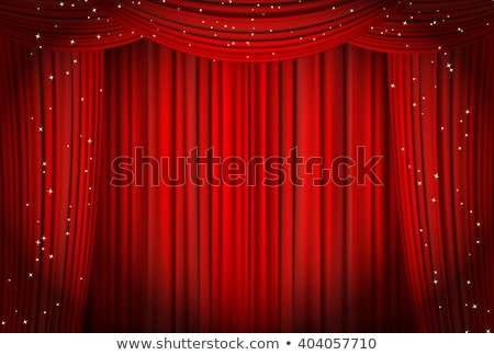 red curtain with star stock photo © alphaspirit