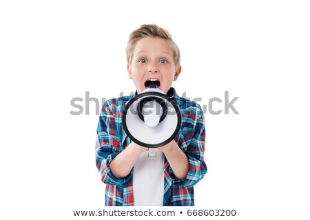 erkek · çığlık · atan · beyaz · çocuklar · yüz · çocuk - stok fotoğraf © alphaspirit
