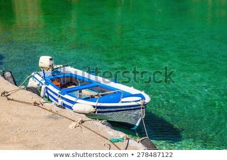 Motor boats at blue lagoon. Ibiza, Spain Stock photo © amok