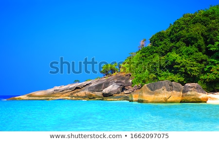 Beach and waves at Similan National Park in Thailand Stock photo © Yongkiet