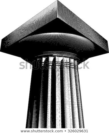 halftone etch effect Greek archaic Doric column Stock photo © Melvin07