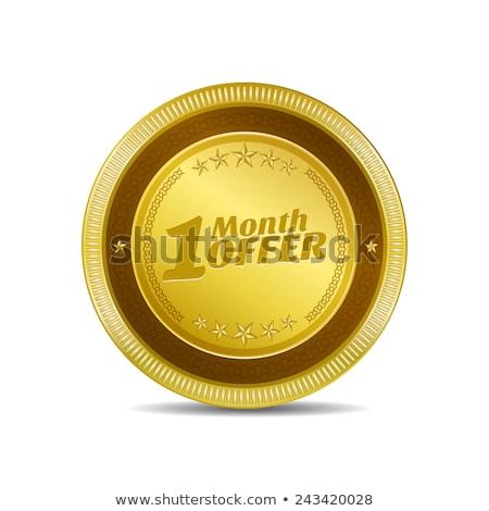 hafta · teklif · altın · vektör · ikon · düğme - stok fotoğraf © rizwanali3d