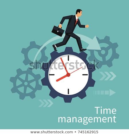 Businessman Gear Run Stock photo © Lightsource