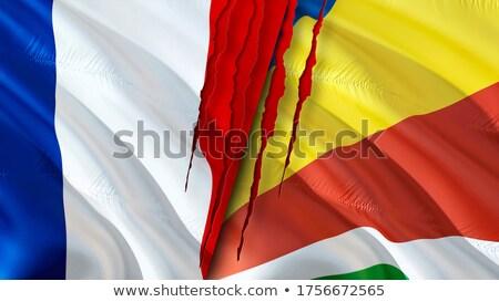 Франция Сейшельские острова флагами головоломки изолированный белый Сток-фото © Istanbul2009