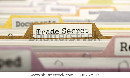 file folder labeled as trade secret stock photo © tashatuvango