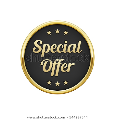Special Offer golden Vector Icon Design Stock photo © rizwanali3d