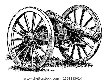 Kanon vintage oude gegraveerd illustratie Stockfoto © Morphart