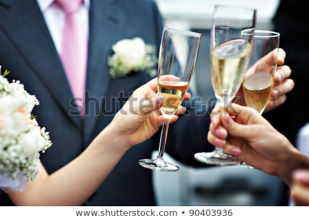 Toast To The Bride And Groom Stock Photo © Rossella