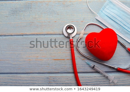 red heart on syringe love stock photo © danilin