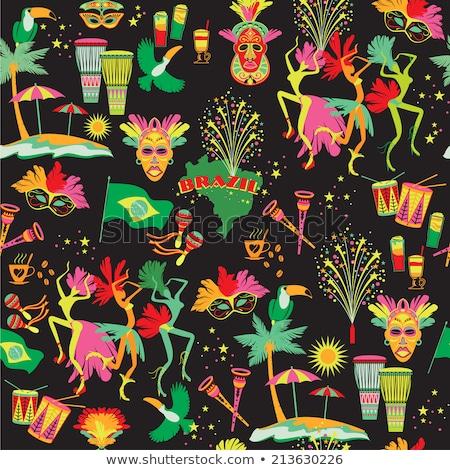Brazilian Carnival Seamlees pattern Stock photo © netkov1