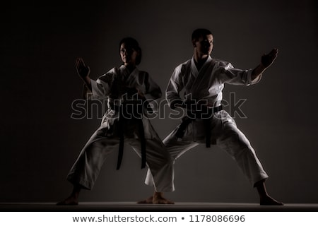 girl exercising karate Stock photo © kokimk
