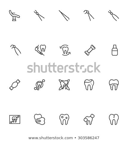 Dental pliers line icon. Stock photo © RAStudio