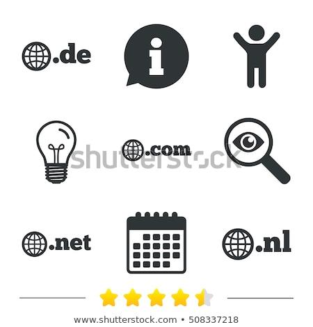 Нидерланды домен точка знак икона иллюстрация Сток-фото © kiddaikiddee