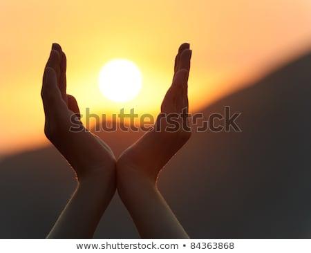 Amanecer disminuyendo montanas sol puesta de sol belleza Foto stock © smeagorl