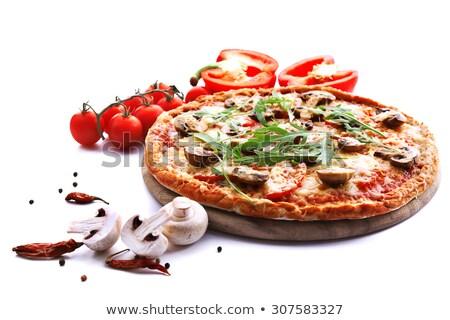 пиццы острый ресторан сыра обеда оливкового Сток-фото © fanfo