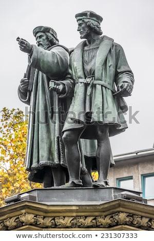 Zuidelijk beeldhouwer uitvinder boek afdrukken Frankfurt Stockfoto © meinzahn