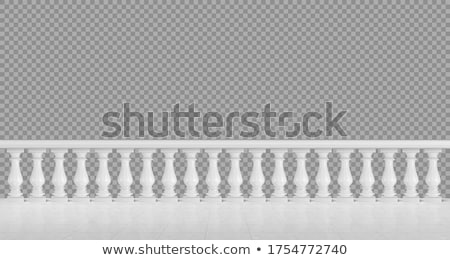 Balconies with white balustrades Stock photo © Digifoodstock
