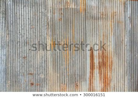 Aged rusty corrugated metal sheet Stock photo © Digifoodstock