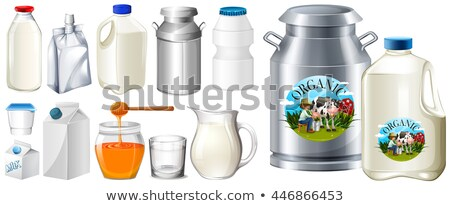 Set of contianers for milk product Stock photo © bluering