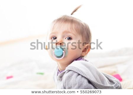 赤ちゃん おしゃぶり 実例 少女 幸せ ストックフォト © bluering