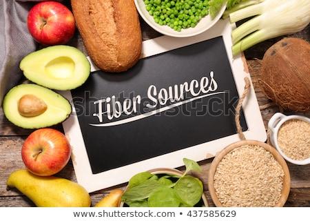 Voedsel vezel bron brood plantaardige gezonde Stockfoto © M-studio