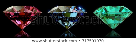 Side views of Emerald cut diamond on black Stock photo © Arsgera
