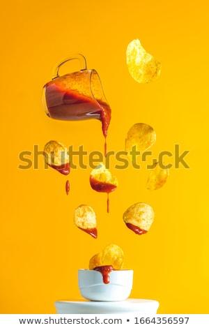 Ketchup saus geïsoleerd witte voedsel Rood Stockfoto © goir