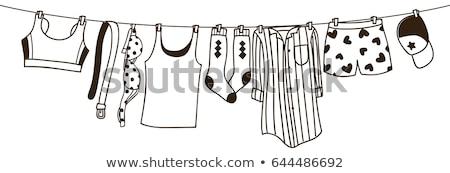бюстгальтер линия кирпичная стена женщину магазин Сток-фото © simply