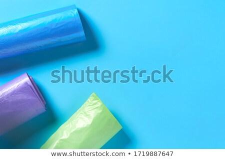 Roll of blue plastic garbage bags Stock photo © digitalr
